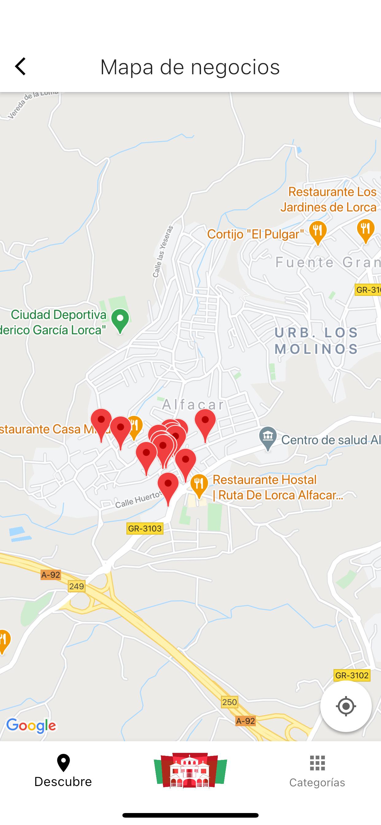 Mapa de comercios locales